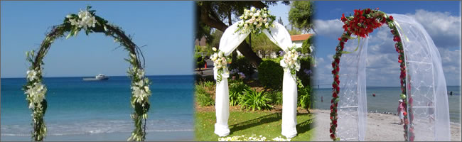Tropical Bamboo Arbor And Wedding Arches For Hire Bali
